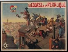 French movie poster La Course a la Perruque c