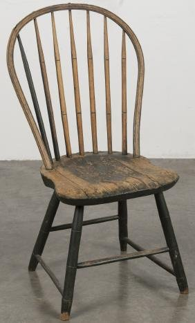 Pennsylvania painted hoopback Windsor chair, 19th