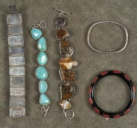 Assorted bracelets, to include a Mexican silver a