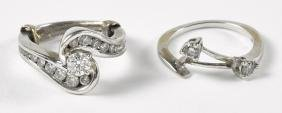 14K white gold and diamond wedding set, to includ