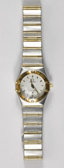 Omega Constellation stainless steel and 18K yello