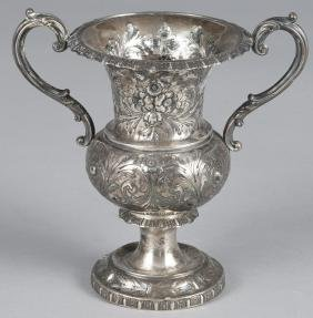Bailey & Co. repousse silver loving cup, 6 1/2'' h