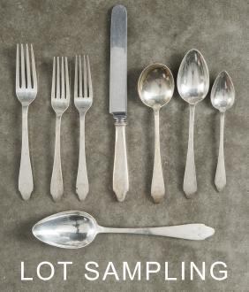 Tiffany & Co. sterling silver flatware service, 1