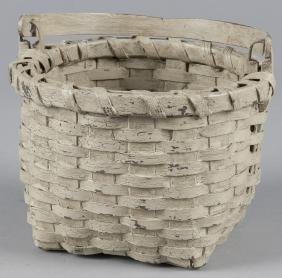 Contemporary David Smith painted splint basket, 6