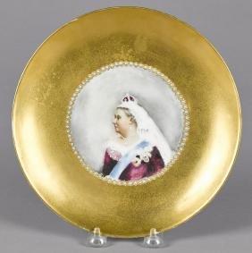 Haviland Limoges porcelain plate, with hand paint