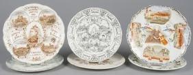 Six Queen Victoria diamond jubilee plates, approx