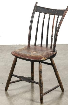 New England painted child's Windsor chair, ca. 18