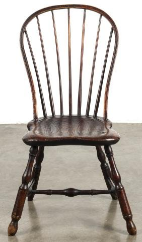Pennsylvania hoopback Windsor side chair, ca. 180
