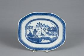 Chinese export porcelain Canton platter, 19th c.,