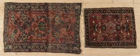 Two Hamadan mats, early 20th c., 2'7'' x 2' and 4'