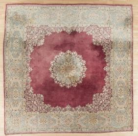 Kirman carpet, 10'1'' x 9'11''.