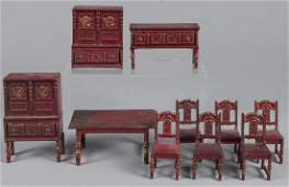 Arcade cast iron ten  piece dining room suite do