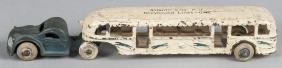 Arcade cast iron tandem bus, inscribed Atlantic