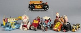 Collection of tin litho windup toys, to include a
