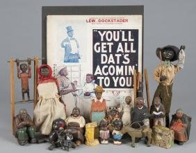 Collection of Black Americana toys, early to mid