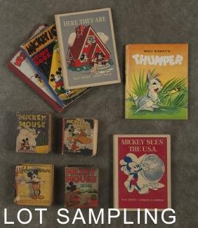 Thirteen Mickey Mouse Big Little Books, most 19