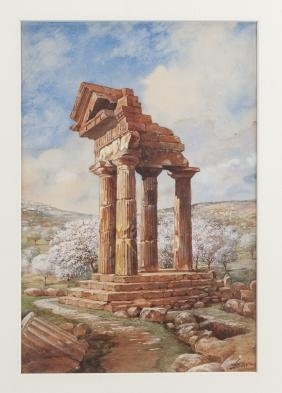 Francis Hoppin (American 1866-1941), watercolor a