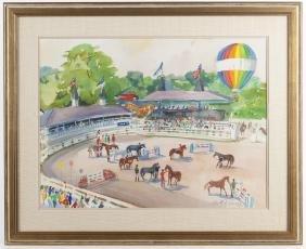 Cecile Johnson (American 1916-2010), watercolor s