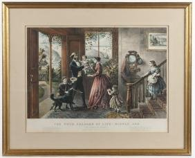 Currier & Ives color lithograph, titled The Four