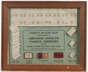 Framed miniature edition of Abraham Lincoln's Fam