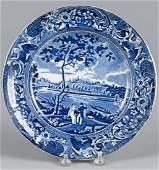Historical blue Staffordshire Fairmount Near Phil