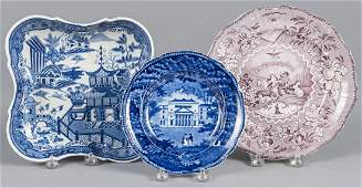 Three pieces of Staffordshire, to include a chino