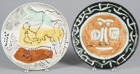 Four Pablo Picasso edition of 1993 ceramic charge