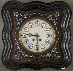 Continental wall clock, late 19th c., 19'' h., 19''