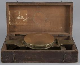Pennsylvania brass surveyors compass, early 19th