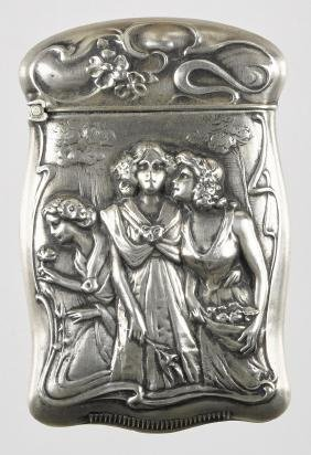 Gilbert sterling silver high relief embossed matc