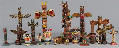 Carved and painted screech owl kachina by Nasingo