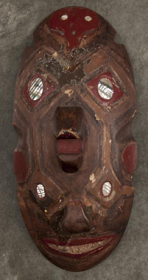 Carved and painted ceremonial double-face mask, e