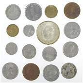 Large group of foreign coins, some silver, approx