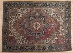 Semi antique Heriz carpet, 10' x 7'4''.