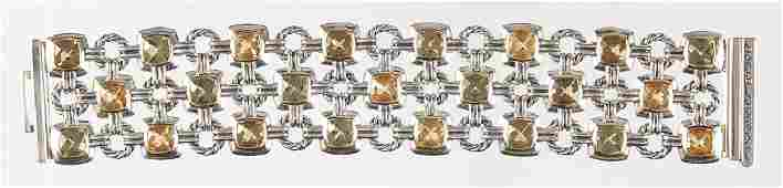 David Yurman sterling silver and 18K gold bracele