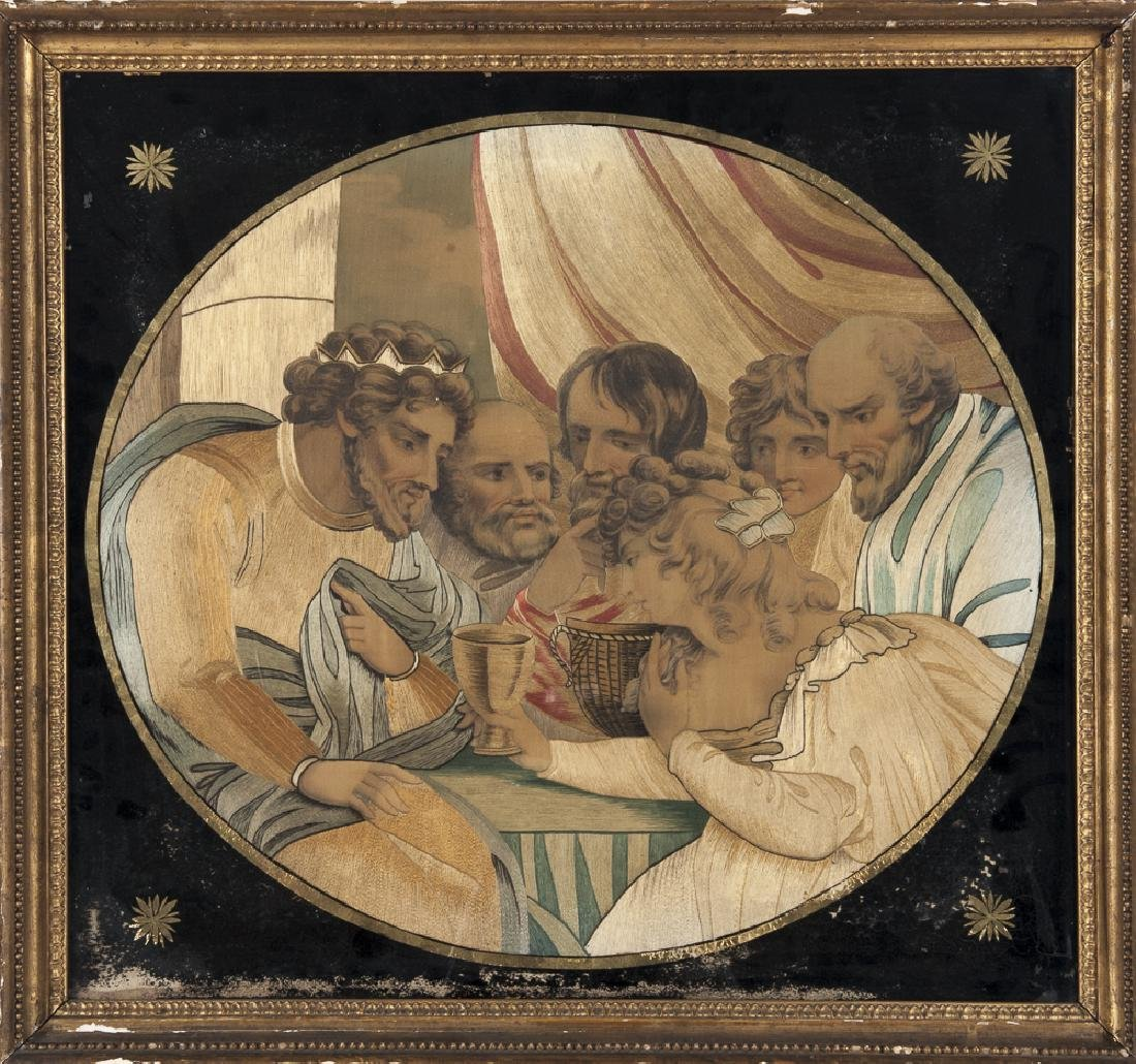 Silkwork picture of the Last Supper, 19th c., 16