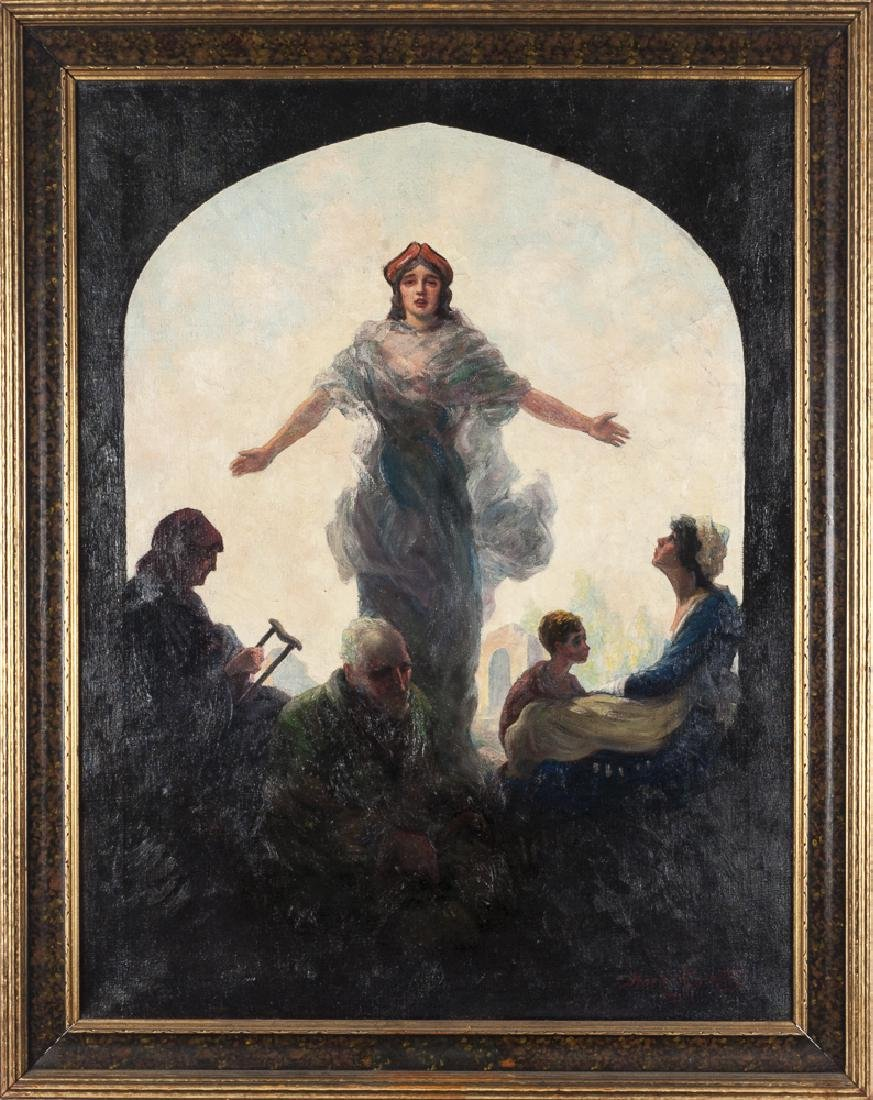 Mark Raditz (American 20th c.), oil on canvas ill