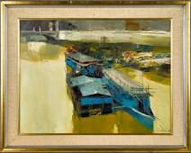 Nicola Simbari, oil on canvas