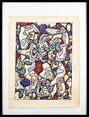 Jean Dubuffet color lithograph