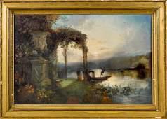 Edward Adveno Brooke oil on wood panel landscape