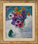 William Malherbe, oil on canvas still life
