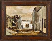 Derek Hill, oil on artist board