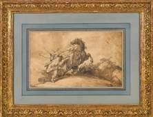 Thomas Rowlandson, pen and sepia watercolor