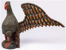 Large Keith Collis carved and painted eagle