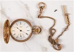 14K gold Elgin ladies hunter case pocket watch