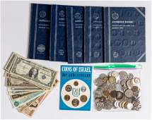 Miscellaneous US and foreign coins and currency