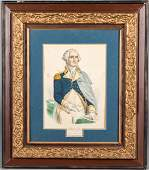 Currier  Ives lithograph of George Washington