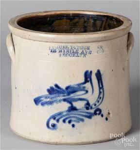 New York three-gallon stoneware crock