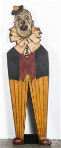 Painted clown carnival figure