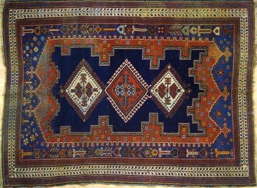 2A: Persian throw rug, ca. 1920, 6' x 4'4''.
